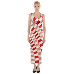 Graphics Pattern Design Abstract Fitted Maxi Dress