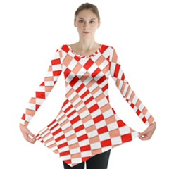 Graphics Pattern Design Abstract Long Sleeve Tunic