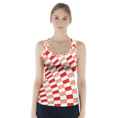 Graphics Pattern Design Abstract Racer Back Sports Top