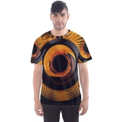 Fractal Mathematics Abstract Men s Sport Mesh Tee