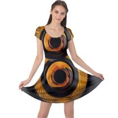 Fractal Mathematics Abstract Cap Sleeve Dresses