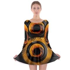 Fractal Mathematics Abstract Long Sleeve Skater Dress