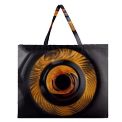 Fractal Mathematics Abstract Zipper Large Tote Bag