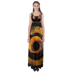 Fractal Mathematics Abstract Empire Waist Maxi Dress