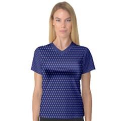 Fractal Art Honeycomb Mathematics Women s V Neck Sport Mesh Tee