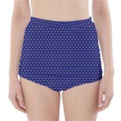 Fractal Art Honeycomb Mathematics High Waisted Bikini Bottoms