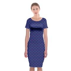 Fractal Art Honeycomb Mathematics Classic Short Sleeve Midi Dress