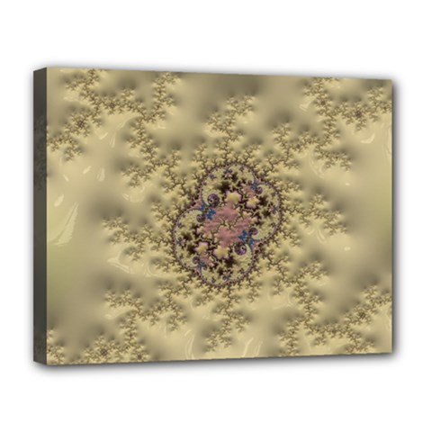 Fractal Art Colorful Pattern Canvas 14  X 11
