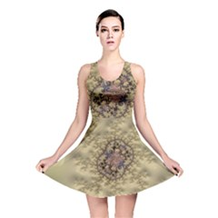 Fractal Art Colorful Pattern Reversible Skater Dress