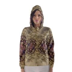 Fractal Art Colorful Pattern Hooded Wind Breaker (women)