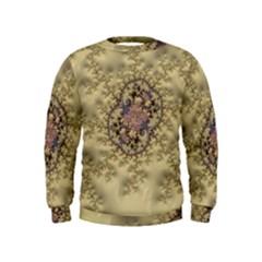 Fractal Art Colorful Pattern Kids  Sweatshirt