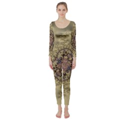 Fractal Art Colorful Pattern Long Sleeve Catsuit