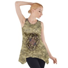 Fractal Art Colorful Pattern Side Drop Tank Tunic