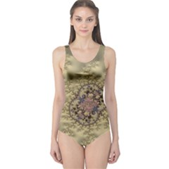 Fractal Art Colorful Pattern One Piece Swimsuit