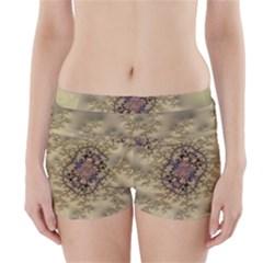 Fractal Art Colorful Pattern Boyleg Bikini Wrap Bottoms