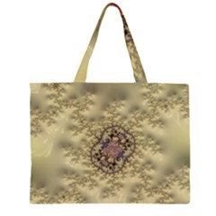 Fractal Art Colorful Pattern Large Tote Bag