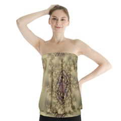 Fractal Art Colorful Pattern Strapless Top