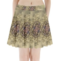 Fractal Art Colorful Pattern Pleated Mini Skirt