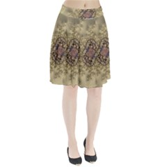 Fractal Art Colorful Pattern Pleated Skirt