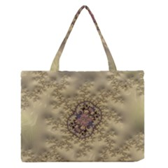 Fractal Art Colorful Pattern Medium Zipper Tote Bag