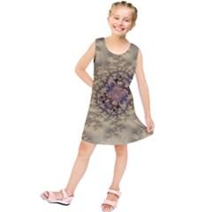 Fractal Art Colorful Pattern Kids  Tunic Dress