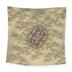 Fractal Art Colorful Pattern Square Tapestry (large)