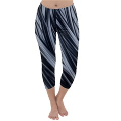 Fractal Mathematics Abstract Capri Winter Leggings