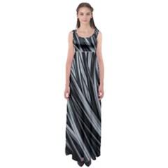 Fractal Mathematics Abstract Empire Waist Maxi Dress
