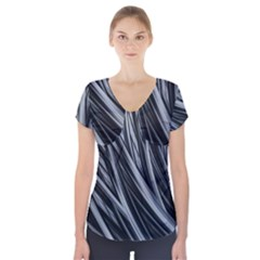 Fractal Mathematics Abstract Short Sleeve Front Detail Top