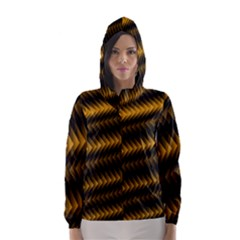 Ornament Stucco Close Pattern Art Hooded Wind Breaker (women)