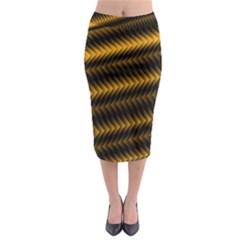 Ornament Stucco Close Pattern Art Midi Pencil Skirt