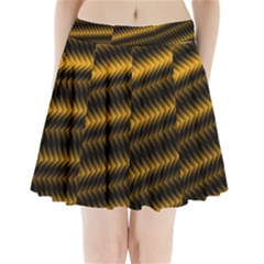 Ornament Stucco Close Pattern Art Pleated Mini Skirt