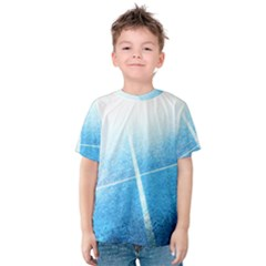 Court Sport Blue Red White Kids  Cotton Tee