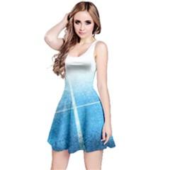 Court Sport Blue Red White Reversible Sleeveless Dress