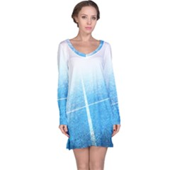 Court Sport Blue Red White Long Sleeve Nightdress