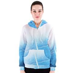 Court Sport Blue Red White Women s Zipper Hoodie