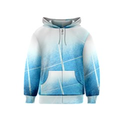 Court Sport Blue Red White Kids  Zipper Hoodie