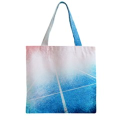 Court Sport Blue Red White Zipper Grocery Tote Bag