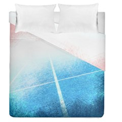 Court Sport Blue Red White Duvet Cover Double Side (queen Size)