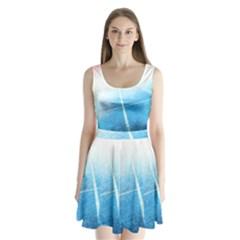Court Sport Blue Red White Split Back Mini Dress