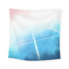 Court Sport Blue Red White Square Tapestry (small)