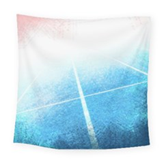 Court Sport Blue Red White Square Tapestry (large)