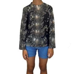 Fractal Math Geometry Backdrop Kids  Long Sleeve Swimwear