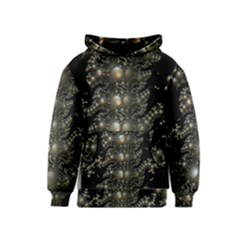 Fractal Math Geometry Backdrop Kids  Pullover Hoodie