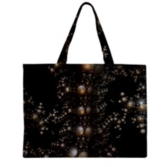 Fractal Math Geometry Backdrop Zipper Mini Tote Bag