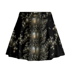 Fractal Math Geometry Backdrop Mini Flare Skirt