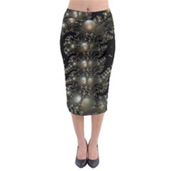 Fractal Math Geometry Backdrop Midi Pencil Skirt
