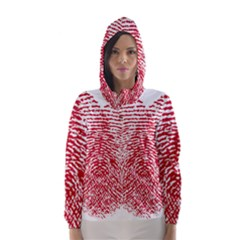 Heart Love Valentine Red Hooded Wind Breaker (Women)