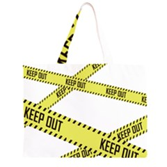 Keep Out Police Line Yellow Cross Entry Large Tote Bag