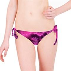Fractal Artwork Pink Purple Elegant Bikini Bottom